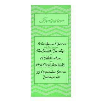 Green Chevron Celebration Invitation