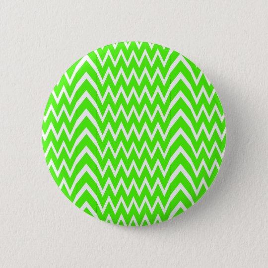 Green Chevron Illusion 6 Cm Round Badge