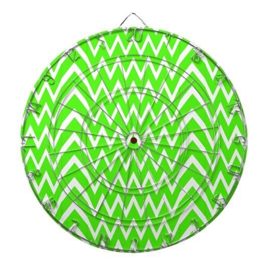 Green Chevron Illusion Dartboard