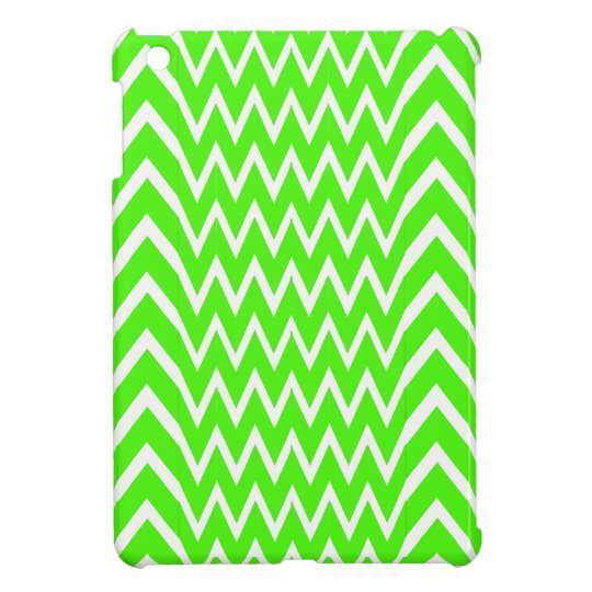 Green Chevron Illusion iPad Mini Covers