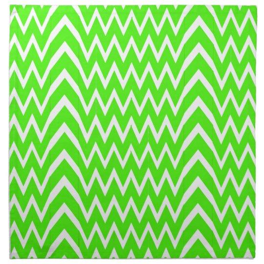 Green Chevron Illusion Napkin