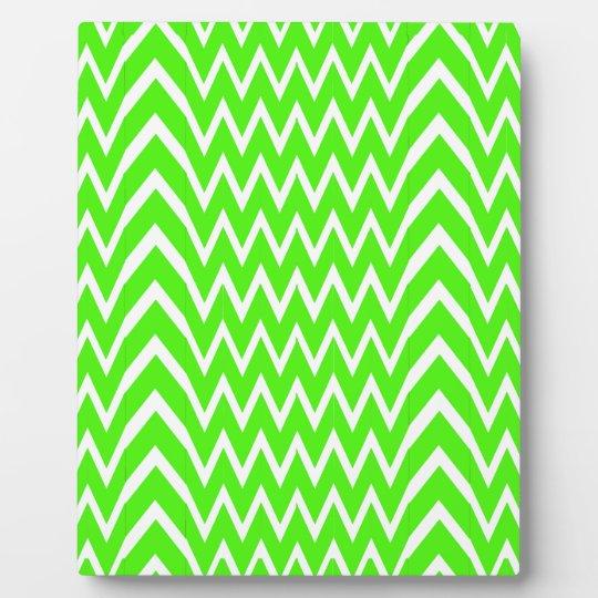 Green Chevron Illusion Plaque