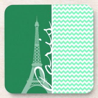 Green Chevron; Paris Coaster