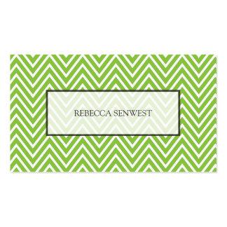 Green Chevron Pattern Modern Minimalist Pack Of Standard Business Cards