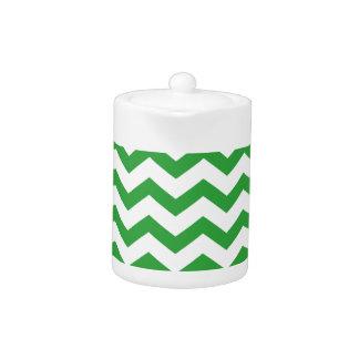 green chevron stripes