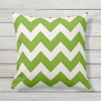 Green Chevron Stripes | Outdoor Cushion