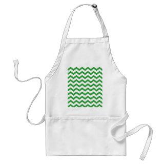 green chevron stripes standard apron