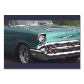 Green Chevy Table Card