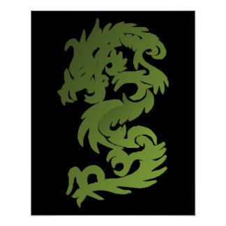 Green Chi Dragon Poster