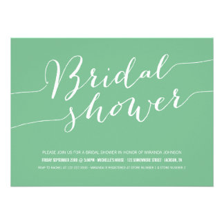 Green Chic Bridal Shower Invitations