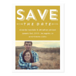 Green Chic Photo Save The Date Post Cards