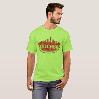 Green Chicago Skyline Watermelon T-Shirt