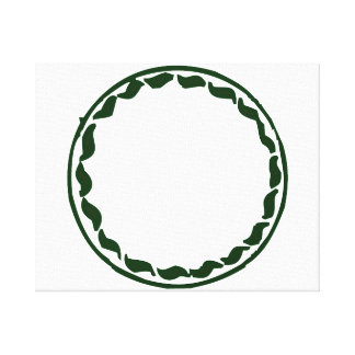 Green chili circle design stretched canvas print