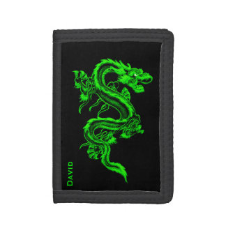 Green Chinese Dragon Custom Wallet