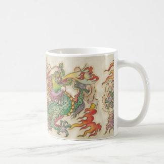 green chinese dragon classic white coffee mug