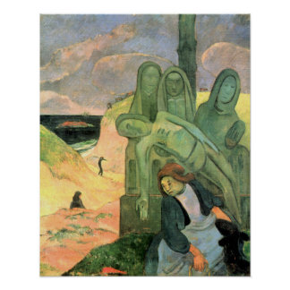 Green Christ by Paul Gaugin - Post Impressionist Poster