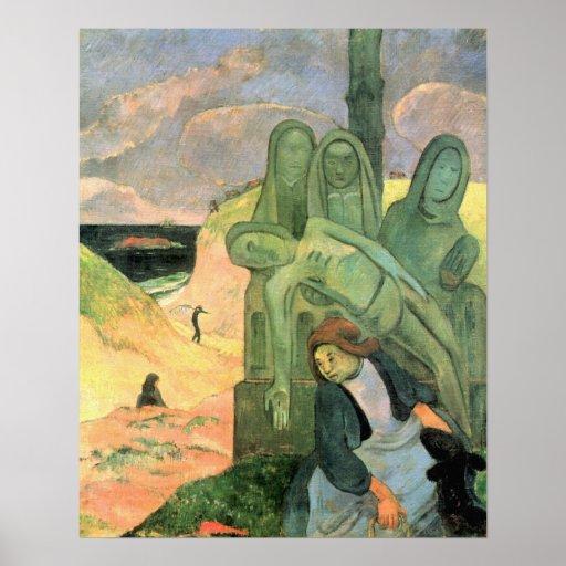 Green Christ by Paul Gaugin - Post Impressionist Print