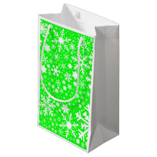 Green Christmas Blast Small Gift Bag