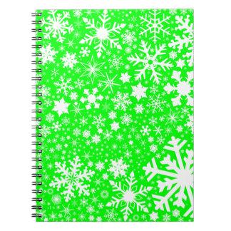 Green Christmas Blast Spiral Notebook