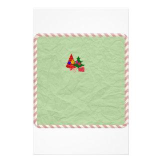 Green Christmas Holiday Stationary Christmas tree Stationery