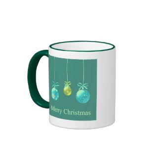Green Christmas Ornaments Mug
