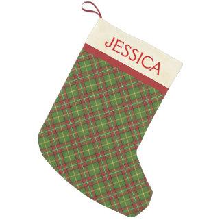Green Christmas Plaid Christmas Stocking