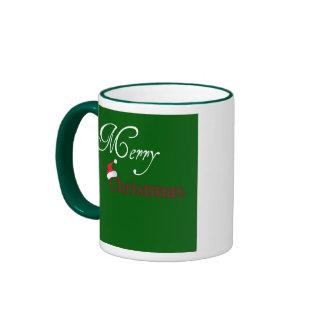 Green Christmas Santa Hat Mug