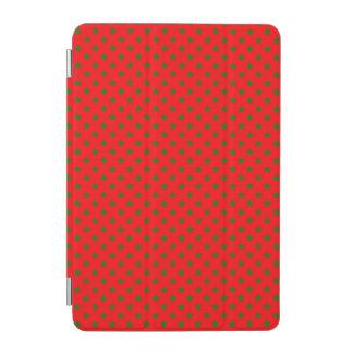 Green Christmas Stars on Festive Red iPad Mini Cover