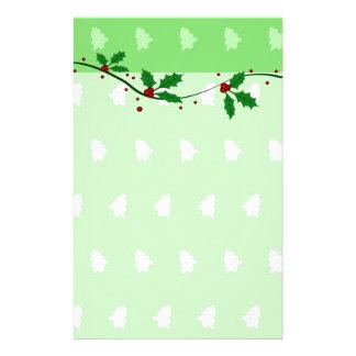 Green Christmas Stationery