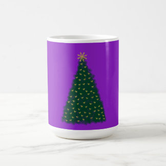 Green Christmas Tree, Gold Running Horses, Purple Mug
