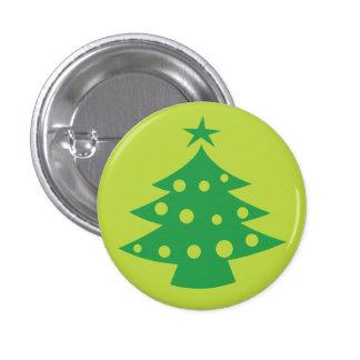 Green Christmas Tree Mini Button