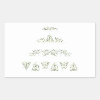 Green Christmas Tree Rectangular Sticker