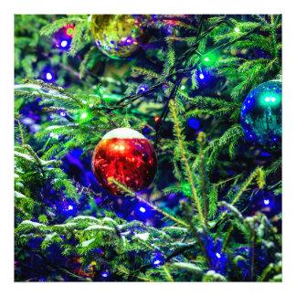 Green Christmas Tree Red Ball Photo Print