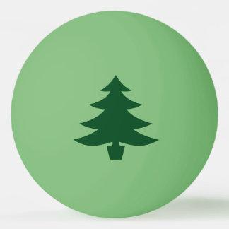 Green Christmas Tree Shape on Green Ping Pong Ball