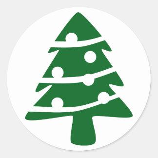 Green Christmas Tree Sticker