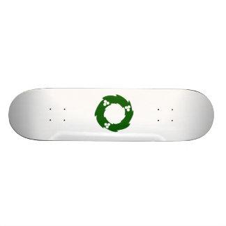 Green Christmas Wreath Skate Decks