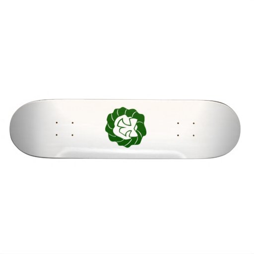 Green Christmas Wreath with Bow Skate Board