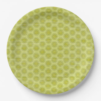Green Circle Paper Plate
