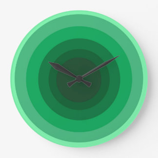 Green Circle Wall Clock