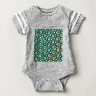 Green circles #3 baby bodysuit