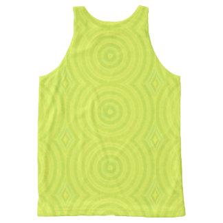 Green circles All-Over print singlet
