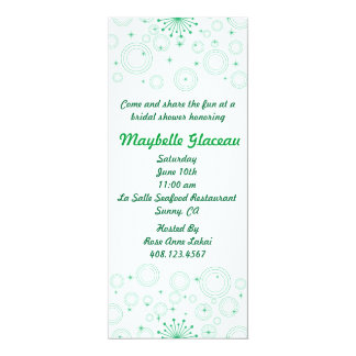 Green Circles Bridal Shower 10 Cm X 24 Cm Invitation Card