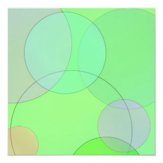 Green Circles 13 Cm X 13 Cm Square Invitation Card