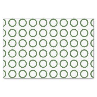 Green Circles Tissue Paper