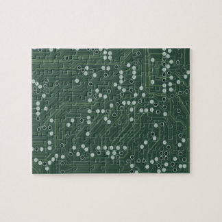 Green Circuit Board Background Pattern Art Puzzle
