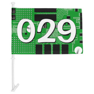 Green circuit board car flag