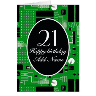 Green circuit board card