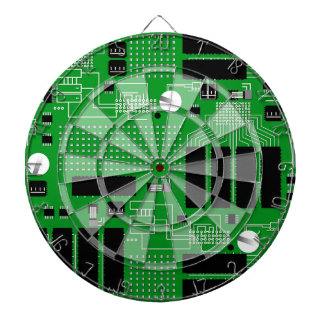 Green circuit board dartboard