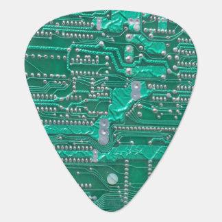 Green circuit board high-tech designed guitar pick