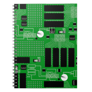 Green circuit board notebook
